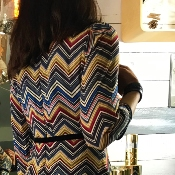 Robe Chevrons Multicolores