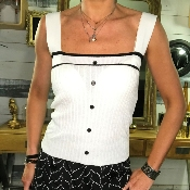 Top Maille Blanc