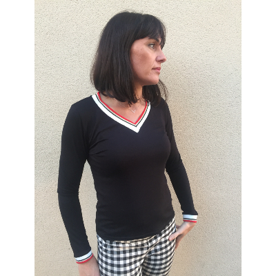 T-shirt Emma Noir DISCONTINUE